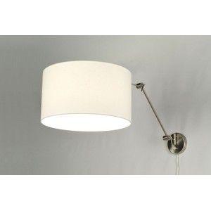 De trend van dit moment! Pendel wandlamp in staal, met mooie witte stoffen kap. De lamp heeft een dim/aan/uit-knop op de wandplaat. De lamp is draaibaar bij de wandplaat, en kantelbaar bij de 2 elleboog gewrichten. De kap is ook nog kantelbaar en draaibaar. Wordt geleverd inclusief transparant snoer. *Exclusief blender. Wilt u deze eventueel los mee bestellen? Zie dan artikel 85943. E27 fitting €169