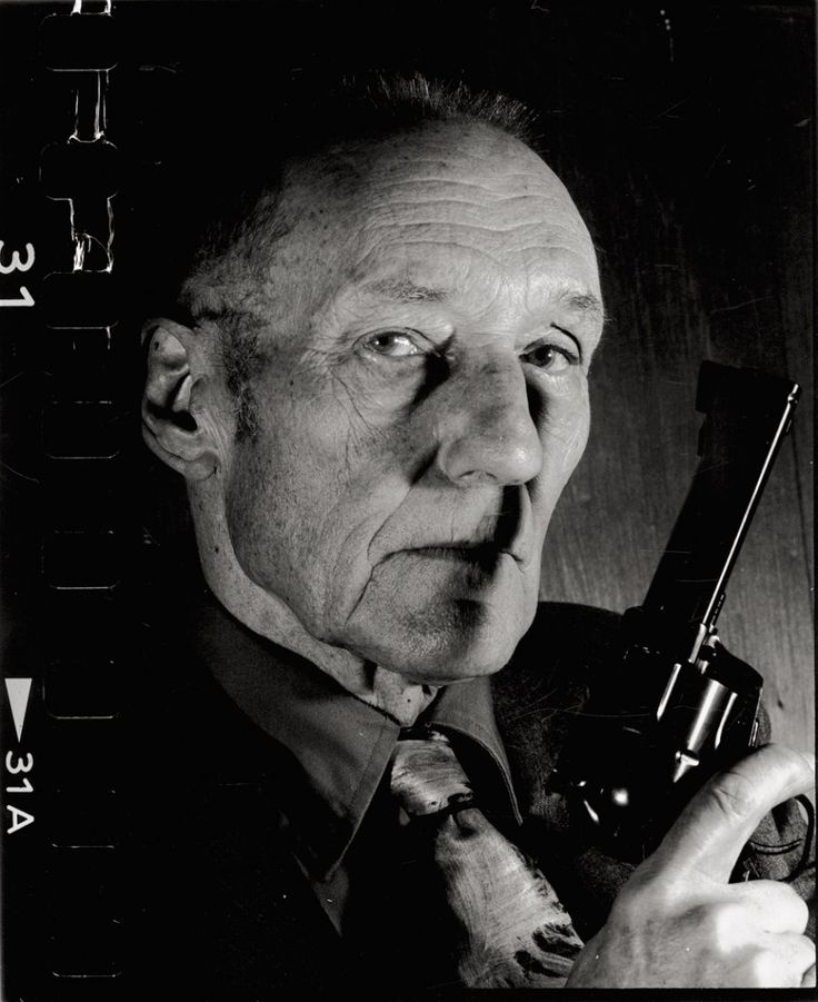 """© Gottfried Helnwein, ca. 1985, William S. Burroughs --- William S. Burroughs would have celebrated his 100th birthday today. ------------- """"I began to get a feeling (…) of being the only sane man in a nut house. It doesn't make you feel superior but depressed and scared, because there is nobody you can contact."""" ― William S. Burroughs, And the Hippos Were Boiled in Their Tanks"""