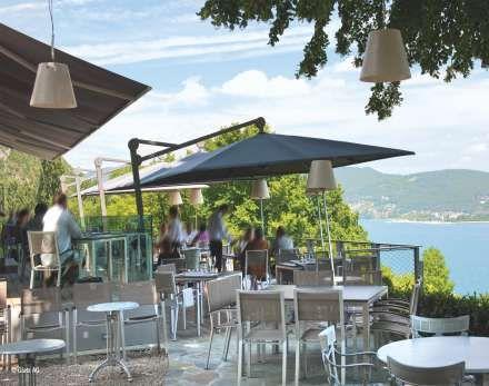 Ampelschirm Glatz Ambiente® 4,5 x 3,5 m rechteckig ☂ toll für große Terrassen und Außengastro