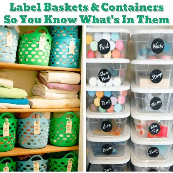 Craft storage ideas for organizing my craft supplies in my closet - could use cheap dollar store or dollar tree plastic bins for this with cheap labels
