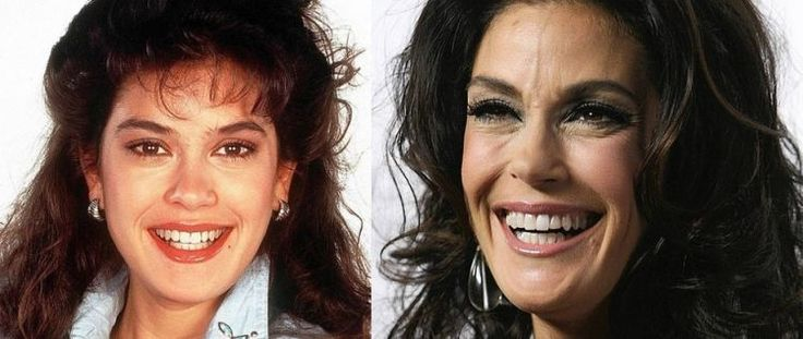 Teri Hatcher in 1987 and 2007