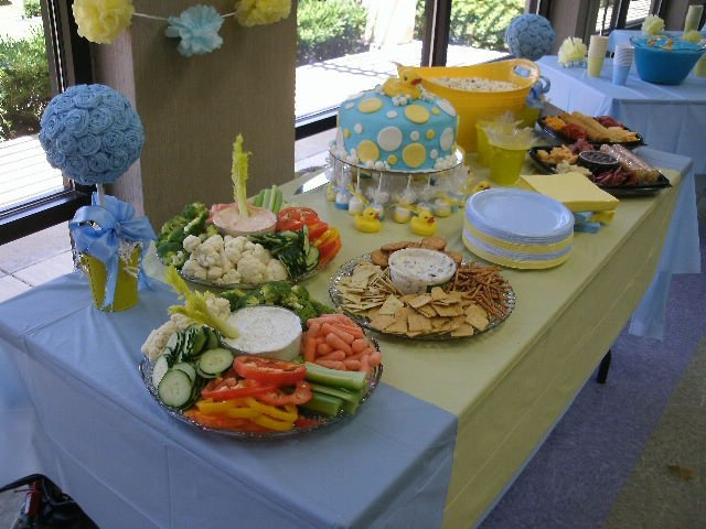 table set up ducky baby shower pinterest