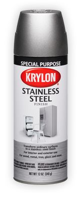 "Krylon spray paint ""Stainless Steel"" finish, for appliances"