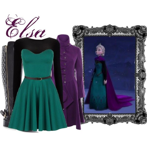 Elsa from Frozen - inspired outfit! <----This is literally just like what she is wearing in that picture!