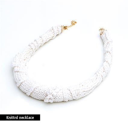 knitted necklace ₪ https://www.etsy.com/shop/rutisjewelry?ref=hdr_shop_menu