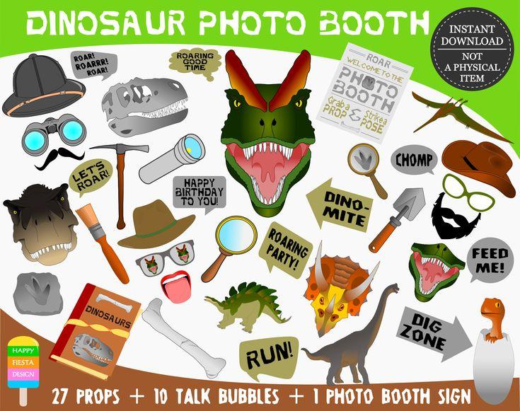 PRINTABLE Dinosaur Photo Booth Props-Dinosaur Photo Props-Dinosaur Party Props-Dinosaur Birthday-Dinosaur Props-Dino Party-Instant Download
