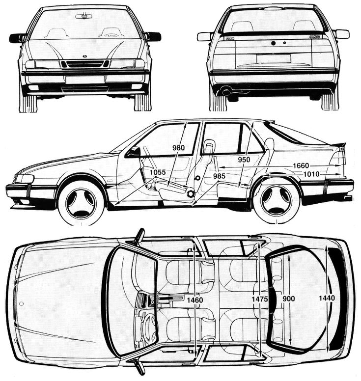 saab 9000 templates views
