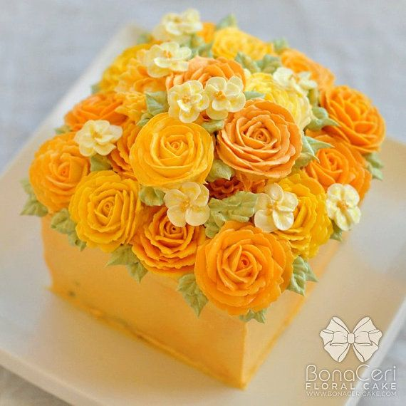Rose bouquet buttercream cake - LOVE it!!! This would be nice in pinks too.  And maybe blue's for a guy...