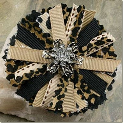 """I used some fabric and ribbon I already had to make this bow. The finished bow size is 3"""" dia.   Here are the supplies I used to make this..."""