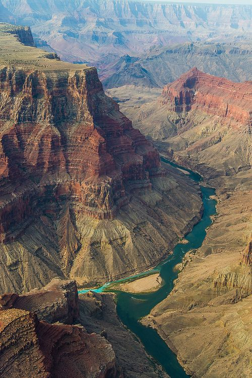 Colorado River and little Colorado River from Helicopter | Arizona, USA