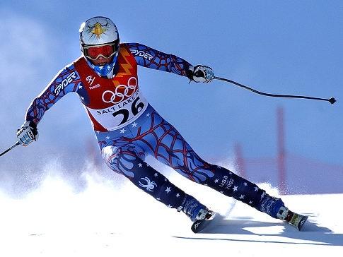 2002 olympics downhill ski @ Judith Land