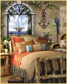 Vibrant Colors And Lively Stripes In Contrasting Tones Taken From The  Southwest Palette. Bedspread Ensembles