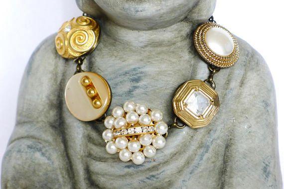 Armband gold bronze Gliederarmband Vintage Schmuck Boho