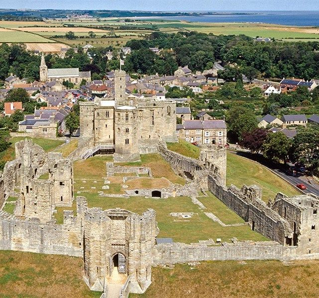 Warkworth Castle, Northumberland  Once home to the powerful Percy family, Warkworth was and remains one of the largest and most impressive fortresses in North East England. It was once home to 'Harry Hotspur', hero of many Border ballads and the bane of Scots raiders.