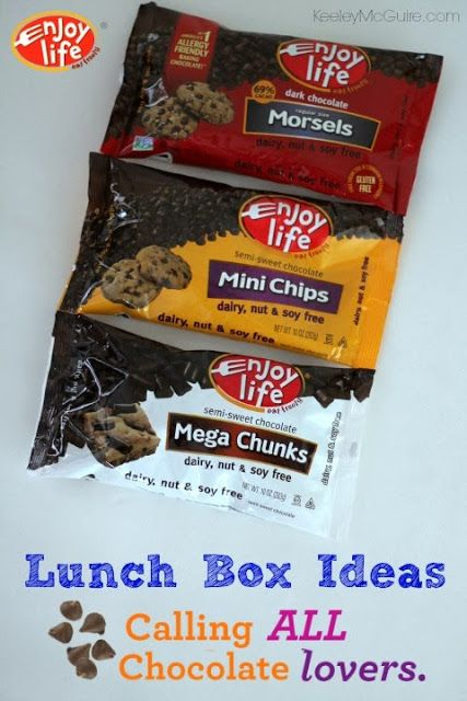 Keeley McGuire: {Enjoy Life Foods Friday} Chocolate Baking Chips Lunch Fun #GlutenFree #AllergyFriendly