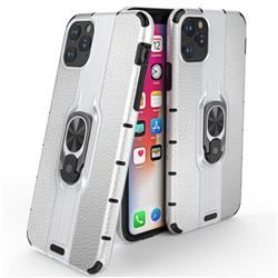Alita Battle Angel Armor Metal Ring Grip Shockproof Dual Layer Rugged Hard Cover for iPhone 11 Max (6.5 inch) – Silver