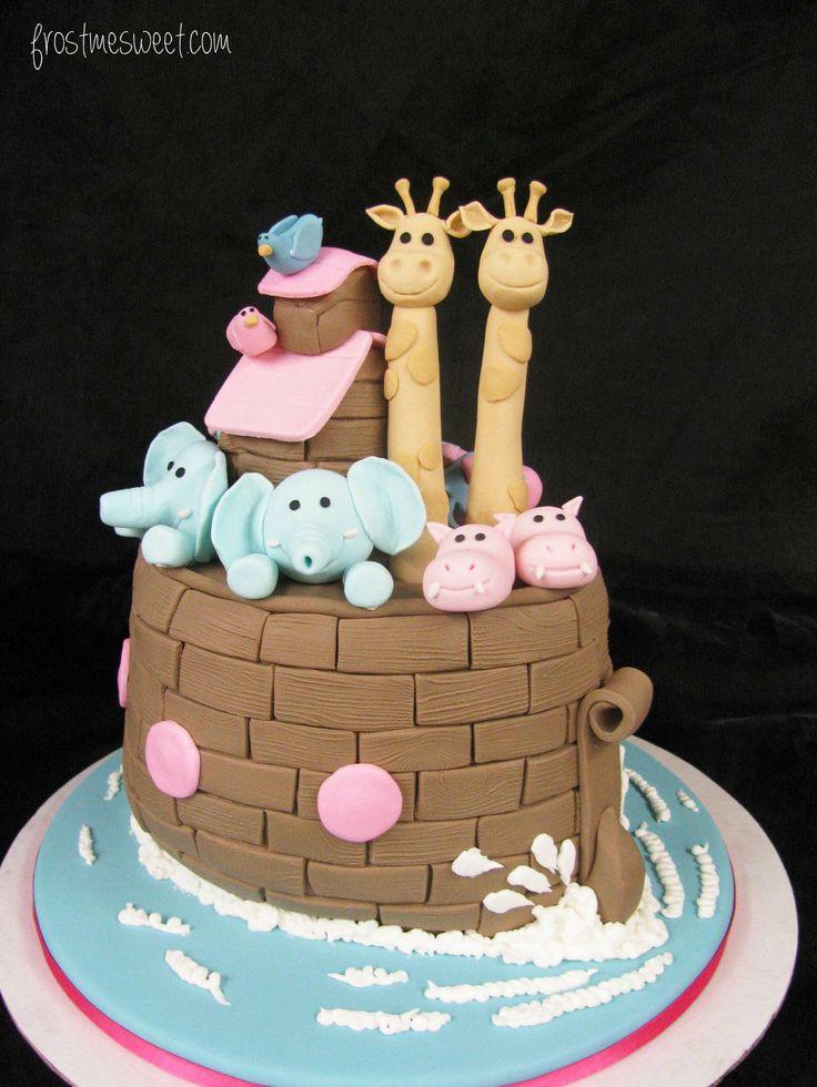 frost me sweet bistro u0026 bakery oh baby noahu0027s ark baby shower cake
