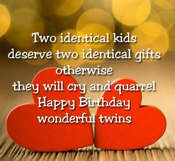 Fabulous Happy Birthday Wishes For Twins | Messages | Quotes ...