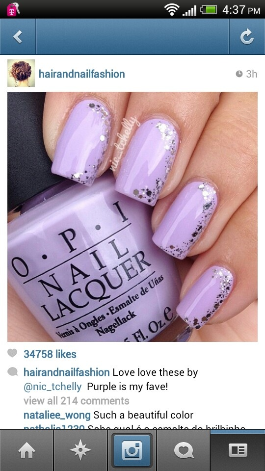 The 25 best lilac nails with glitter ideas on pinterest nail purple purps nail art opi rumples wiggin essie set in stones prinsesfo Gallery