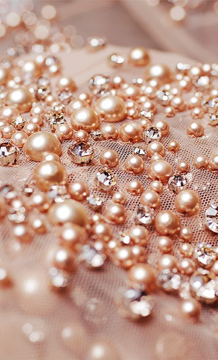 Rose gold pearls
