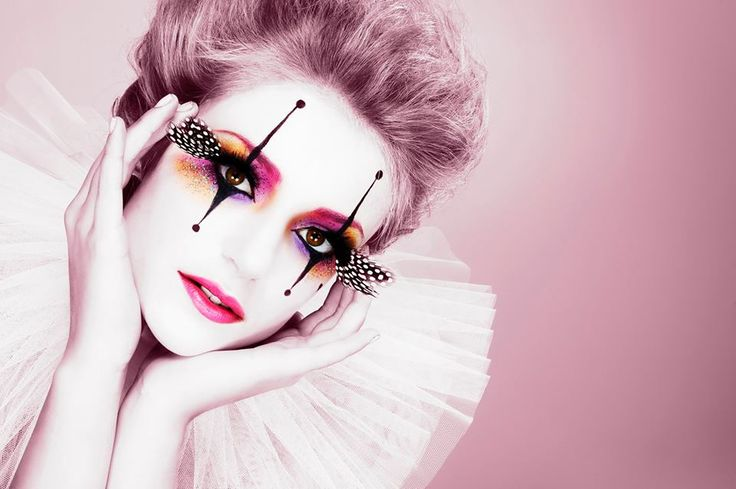 harlequin makeup google search halloweenn pinterest feathers doll makeup and fairy makeup. Black Bedroom Furniture Sets. Home Design Ideas