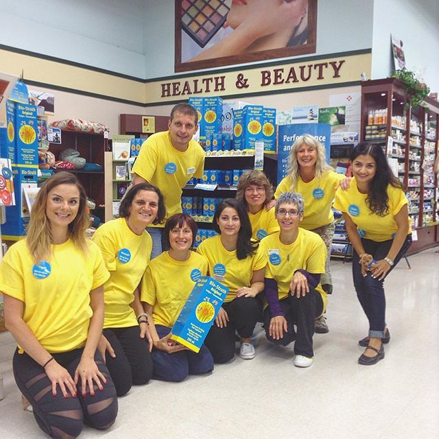 Our team showing their support for our special guest - David Pestalozzi, CEO of Bio-Strath. He will be at our Newmarket location from 12:30-2pm for a meet and greet! See you in-store! #biostrath #mellowyellow #ourteam #specialguest #nutrition #naturesemporium - See more at: http://iconosquare.com/viewer.php#/detail/1076850861582948873_1524188685