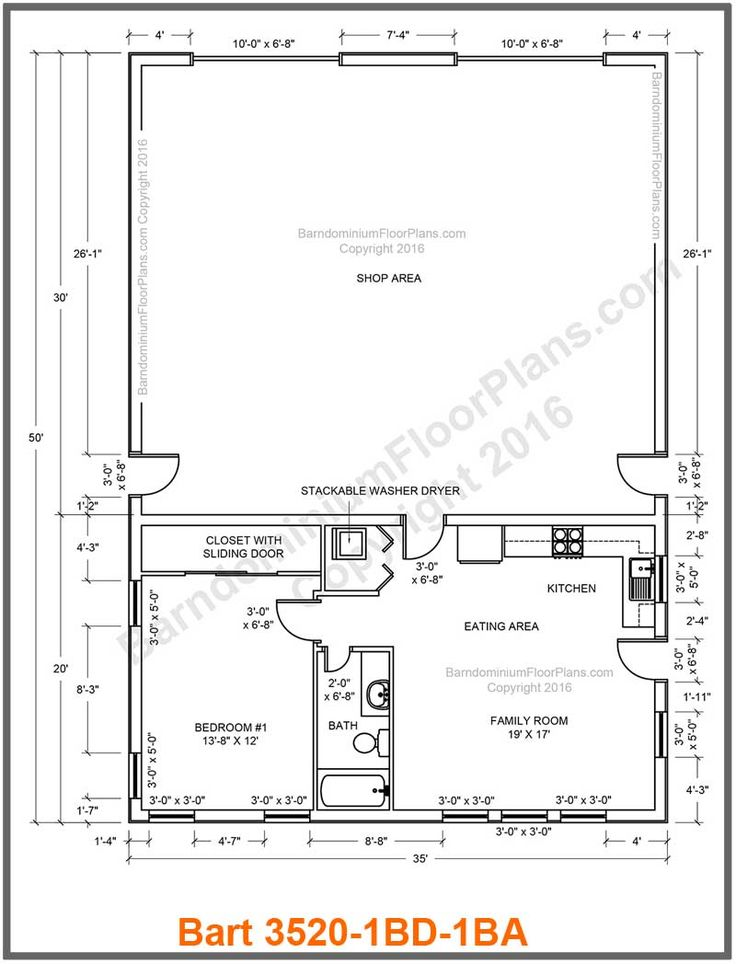 24 best barndominium floor plans images on pinterest for Pole barn blueprint creator