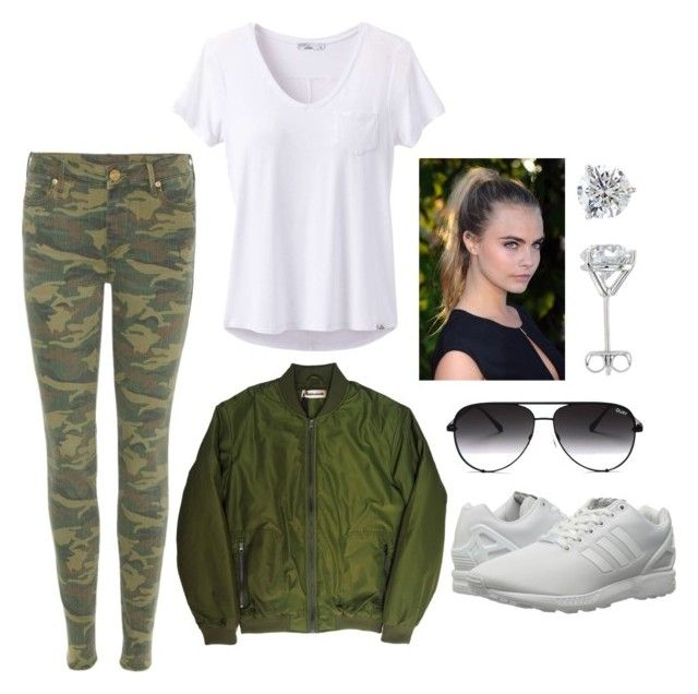 """""""Untitled #54"""" by parvanitagis on Polyvore featuring True Religion, prAna, Custommade, adidas Originals and Quay"""