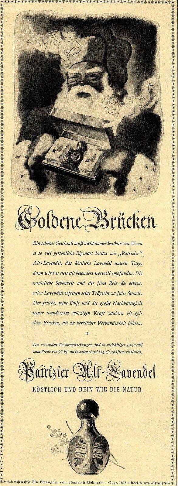 Jünger & Gebhardt Berlin PATRIZIER ALT LAVENDEL Historische Reklame von 1938 | eBay