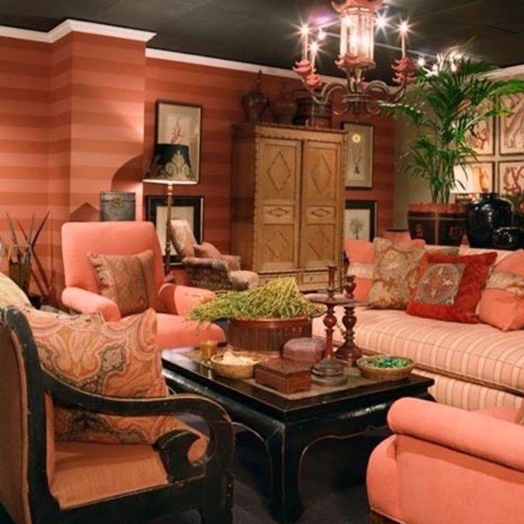 133 besten COLOR CORAL - ORANGE -MARSALA ROOMS\Decor Bilder auf - wohnzimmer orange schwarz