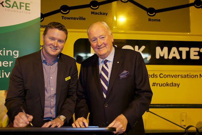 trackSAFE and RUOK? signing of a partnership MOU.