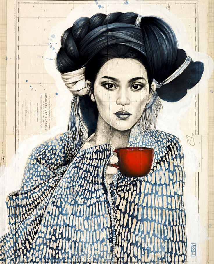 Stéphanie Ledoux - Carnets de voyage: La tasse rouge