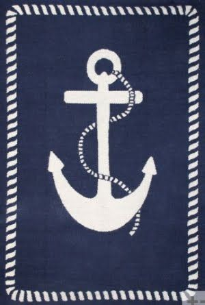 Anchor rug...for if we're blessed to have a little boy!
