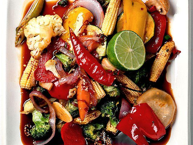 Wokade grönsaker med woksås (kock recept.nu)