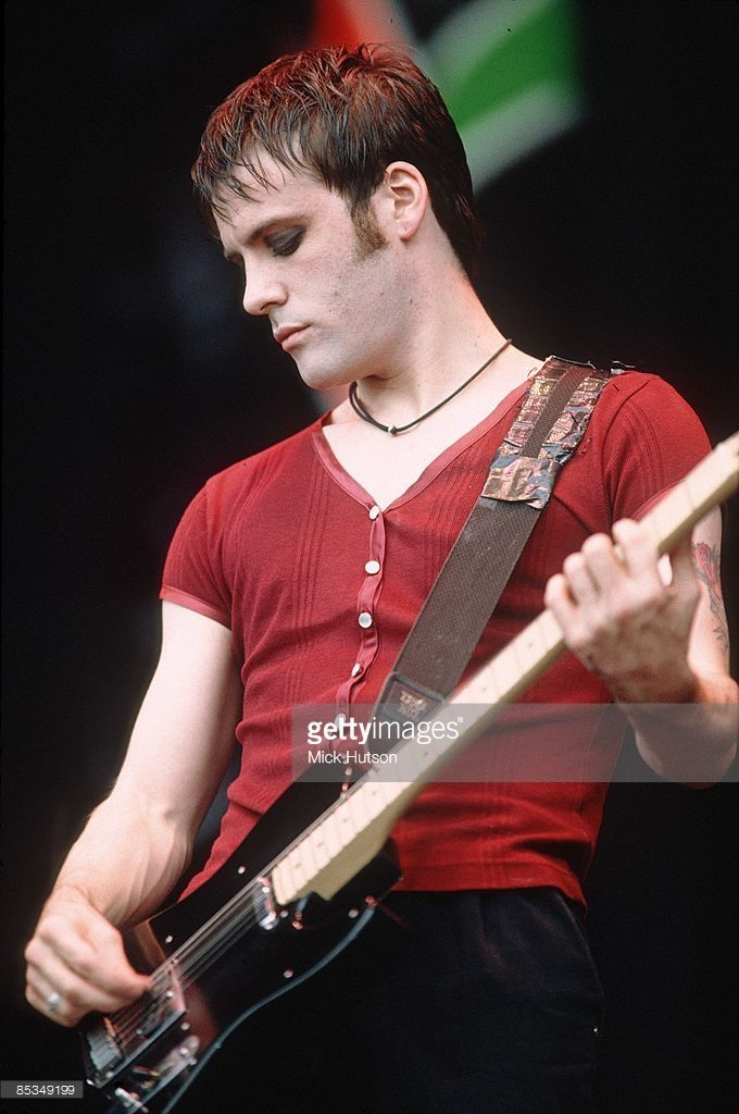 Richey Edwards of the Manic Street Preachers performs on stage at Phoenix Festival, United Kingdom, 18th July 1993.