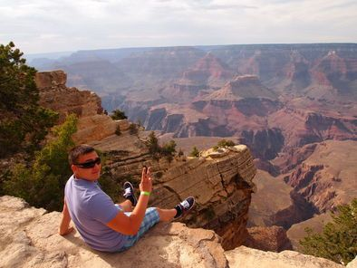 Photo of Las Vegas Grand Canyon South Rim Bus Tour with Optional Upgrades At the edge