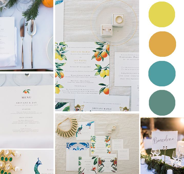 For Jay and Shivani's wedding we choose a very special color pallet: yellow, orange and green.  Click by: Married Morenos Hotel: Tivoli Carvoeiro Design by: White Ideas  Flowers by: Elly flores #weloveweddings #AWP #PaulaandKarina #weddings #readytowed #destinationweddings #trends #inspiration