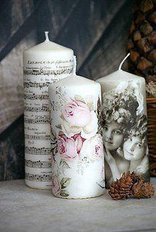 Svietidlá a sviečky - Trio Vintage sviečok - 6041106_