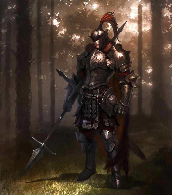 Fantasy Medieval Knight Knight by johnkoo - CG...