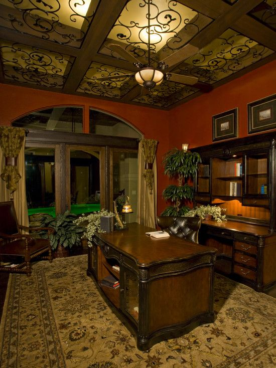 Just include the entire album from this link in inspiration!  Mediterranean Home Office Design, Pictures, Remodel, Decor and Ideas -   http://www.houzz.com/photos/mediterranean/home-office/p/16