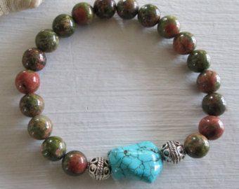 Perla y calcedonia loto encanto pulsera  pulsera de perlas