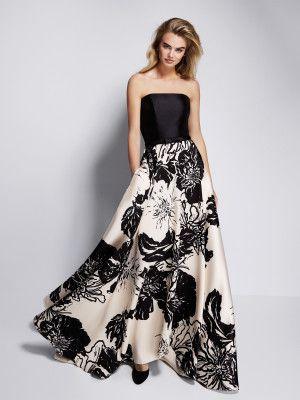71a8b4ee5 Compra Gauri  Vestido de fiesta en mikado elegante y moderno. Disponible en Pronovias  Shop Online.