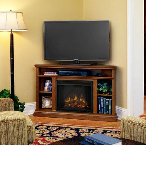 Corner Entertainment Centers With Electric Fireplace
