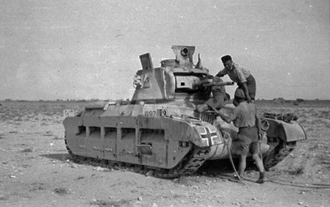 Captured Matida Tank