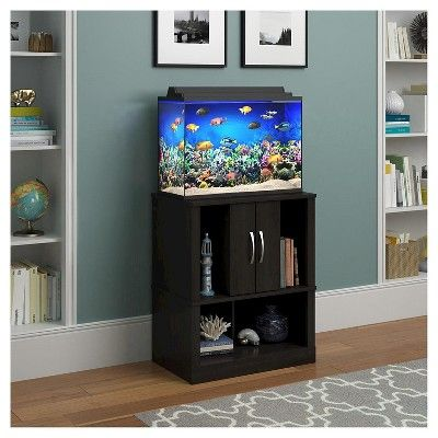 Cove 20 Gallon Aquarium Stand - Black Forest - Ameriwood Home, Brown