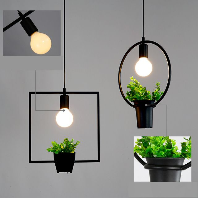 Modern Outdoor Hanging Lights With Plants And Flowers