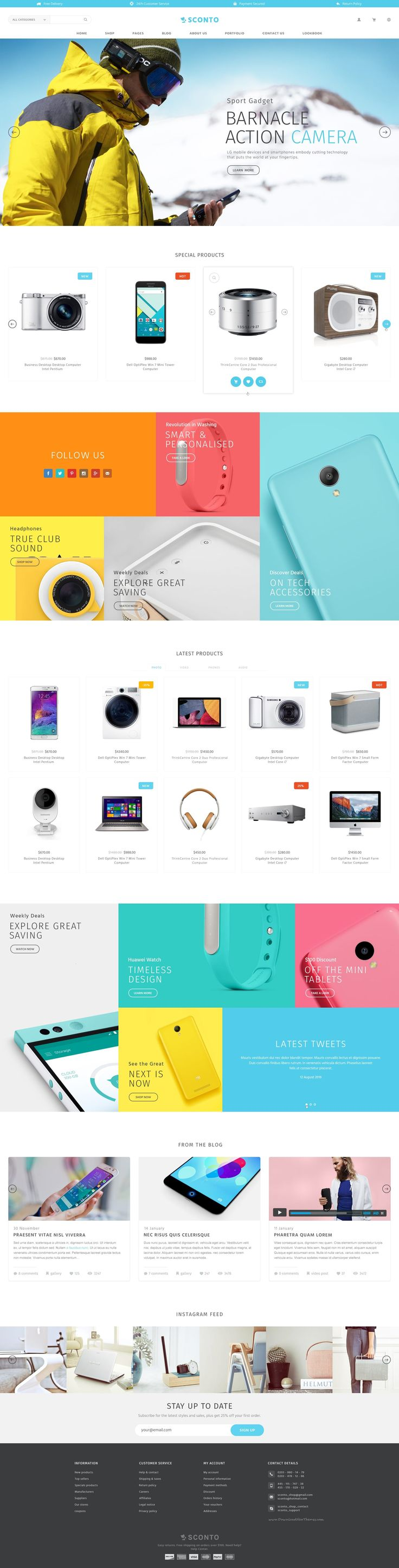 Sconto Responsive eCommerce PSD Template Download for Multipurpose online store. It has 10 stunning layouts.