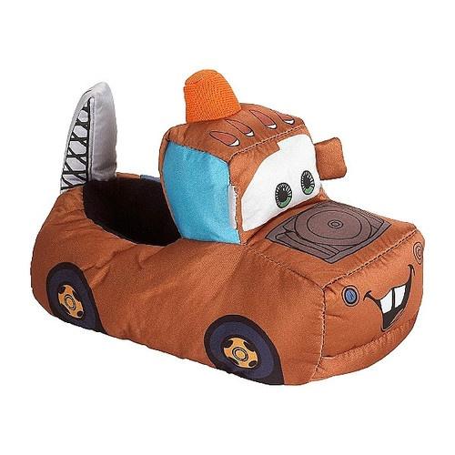 """Disney Cars Toddler Boys """"Mater"""" Socktop Slippers 5 6 7 8"""