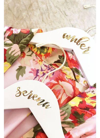 Personalized Flower Girl White Wooden Hanger EB3170