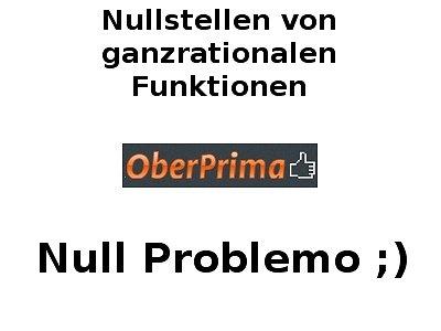 Nullstellen ganzrationaler Funktionen alle Verfahren